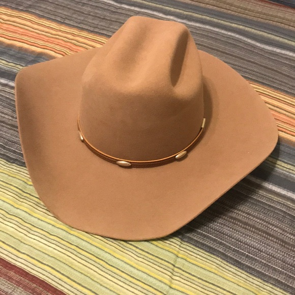 9e2b21451 Cowboy Hat American Hat Co long oval sz 7 Felt NEW NWT